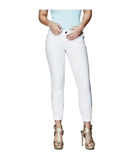 Imbracaminte Femei GUESS Julianne Skinny Denim Joggers in True White Wash true white