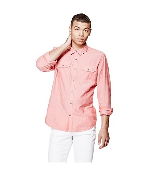 Imbracaminte Barbati GUESS Abney Oxford Shirt 409 caspian