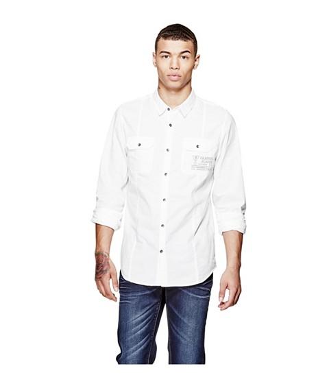 Imbracaminte Barbati GUESS Abney Oxford Shirt true white