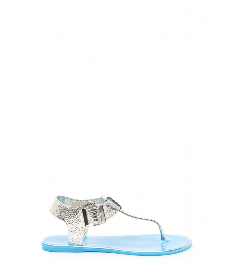 Incaltaminte Femei CheapChic Venomous Vixen Metallic Sandals Blue