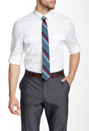 Imbracaminte Barbati Perry Ellis Pocketed Slim Fit Shirt BRIGHT WHITE