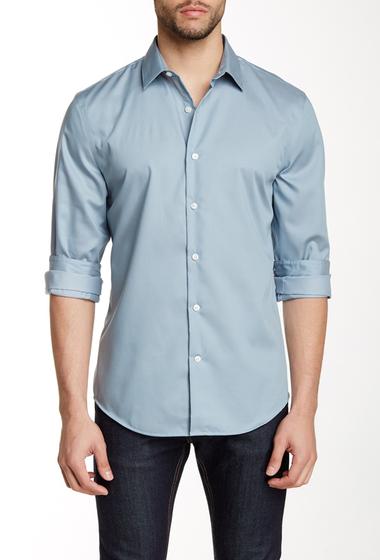Imbracaminte Barbati Perry Ellis Long Sleeve Regular Fit Shirt CHROMITE