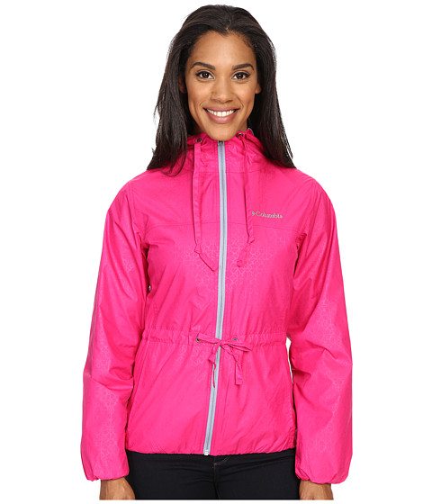 Imbracaminte Femei Columbia Auroras Waketrade II Rain Jacket Haute Pink Flower EmbossBeacon