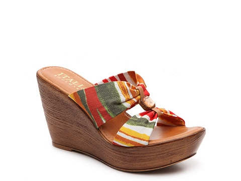 Incaltaminte Femei Italian Shoemakers Nara Wedge Sandal Orange Multi