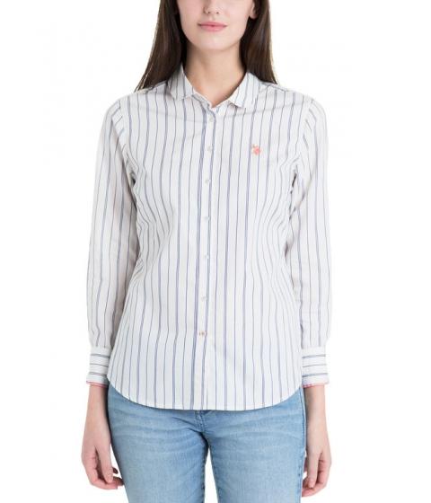 Imbracaminte Femei US Polo Assn Dobby Stripe MARSHMALLOW