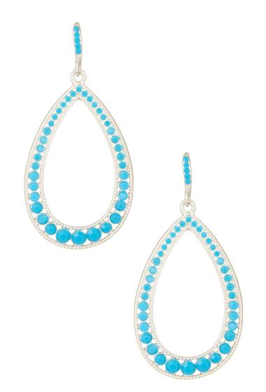 Bijuterii Femei Natasha Accessories Open Teardrop Dangle Earrings TURQ
