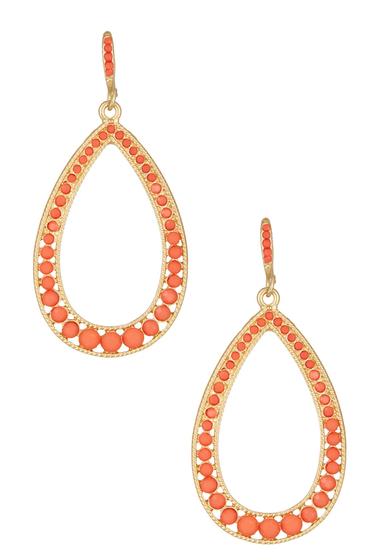Bijuterii Femei Natasha Accessories Open Teardrop Dangle Earrings CORAL