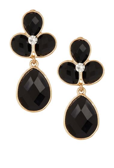 Bijuterii Femei Natasha Accessories Crystal Faceted Teardrop Dangle Earrings JET