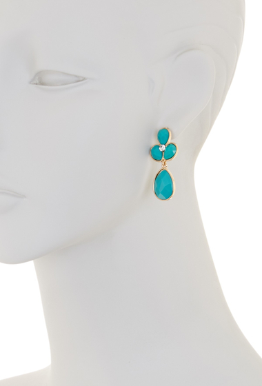 Bijuterii Femei Natasha Accessories Crystal Faceted Teardrop Dangle Earrings BLUE