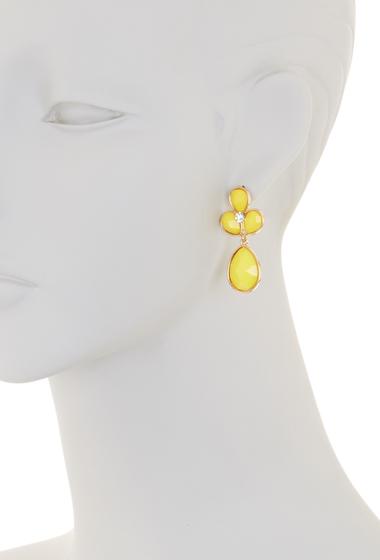 Bijuterii Femei Natasha Accessories Crystal Faceted Teardrop Dangle Earrings YELLOW