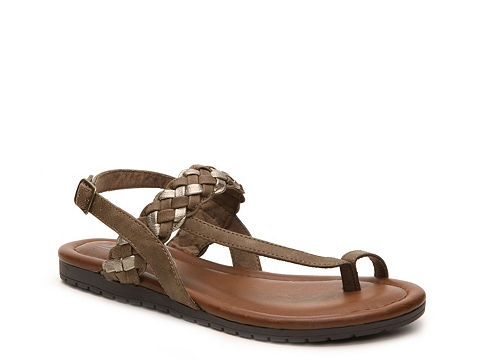 Incaltaminte Femei Cliffs by White Mountain Swag Flat Sandal BrownGold
