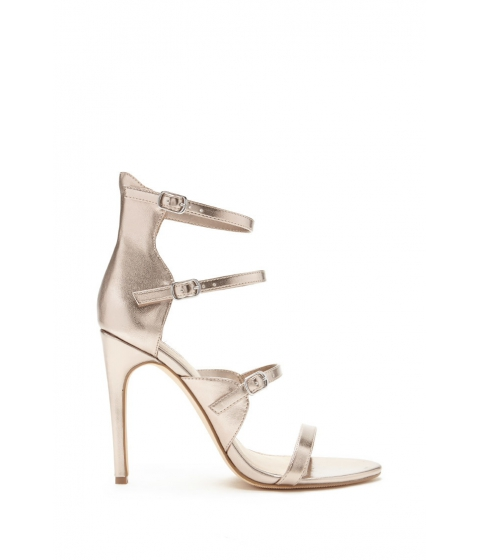 Incaltaminte Femei Forever21 Caged Metallic Heels Rose gold