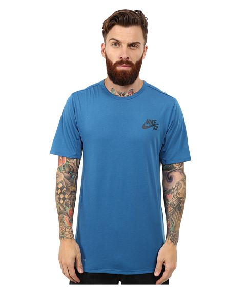 Imbracaminte Barbati Nike SB Skyline Dri-Fit Short Sleeve Crew Brigade BlueMidnight Teal