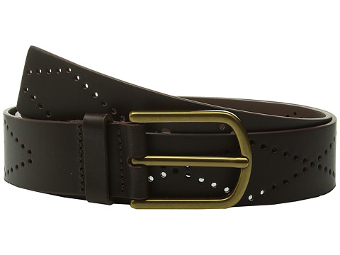 Accesorii Femei Fossil Diamond Perforated Belt Brown