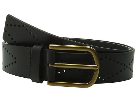 Accesorii Femei Fossil Diamond Perforated Belt Black