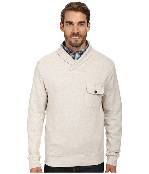 Imbracaminte Barbati Pendleton LS Shawl Collar Board Pullover Oatmeal Heather