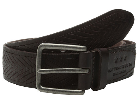 Accesorii Barbati John Varvatos 38mm Chevron Embossed Leather Belt Chocolate