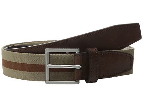 Accesorii Barbati Cole Haan 35mm Webbing Belt with Leather Tabs and Loop DuneWoodbury