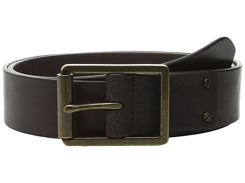 Accesorii Barbati Cole Haan 35mm Smooth Leather Belt with Center Bar Buckle Dark Brown