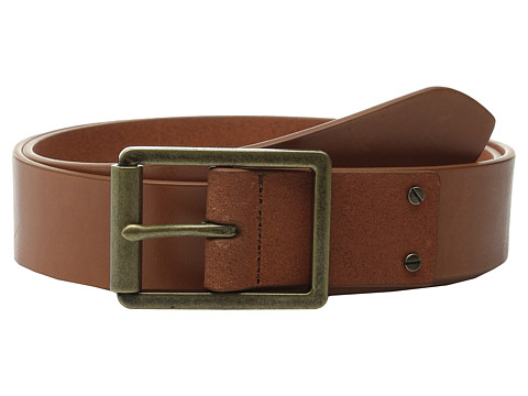 Accesorii Barbati Cole Haan 35mm Smooth Leather Belt with Center Bar Buckle Tan