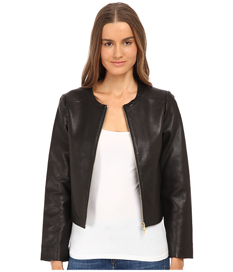 Imbracaminte Femei Kate Spade New York Zip-Up Leather Jacket Black