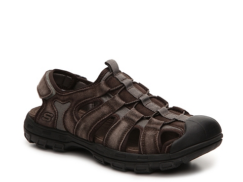 Incaltaminte Barbati SKECHERS Relaxed Fit Selmo Sandal Brown