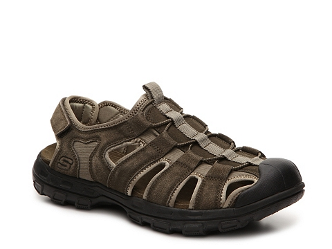 Incaltaminte Barbati SKECHERS Relaxed Fit Selmo Sandal Green