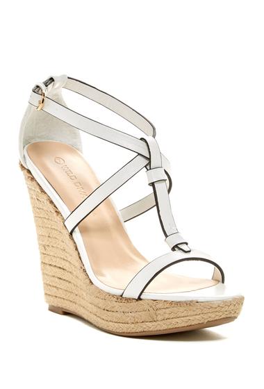 Incaltaminte Femei Legend Footwear Madison Platform Wedge Sandal White