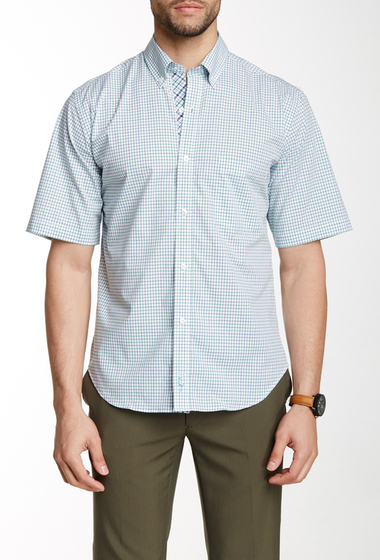 Imbracaminte Barbati TailorByrd Grid Plaid Short Sleeve Shirt GREEN