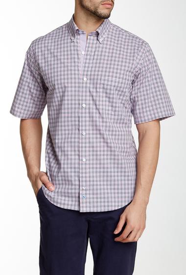 Imbracaminte Barbati TailorByrd Plaid Short Sleeve Shirt PURPLE