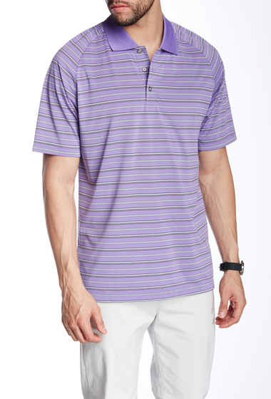 Imbracaminte Barbati Lone Cypress Pebble Beach Striped Short Sleeve Polo 3046 DAHLIA PURPLE