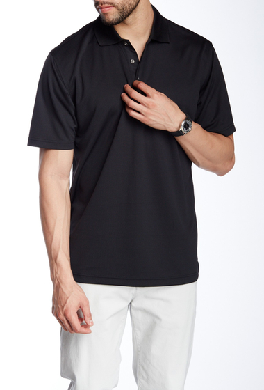 Imbracaminte Barbati Lone Cypress Pebble Beach Roped Short Sleeve Polo 1000 BLACK