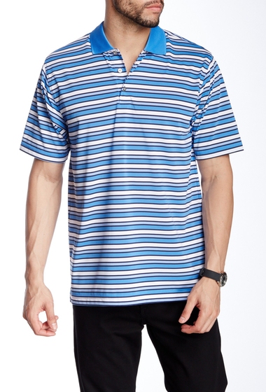 Imbracaminte Barbati Lone Cypress Pebble Beach Striped Short Sleeve Polo 4226 REGATTA BLUE