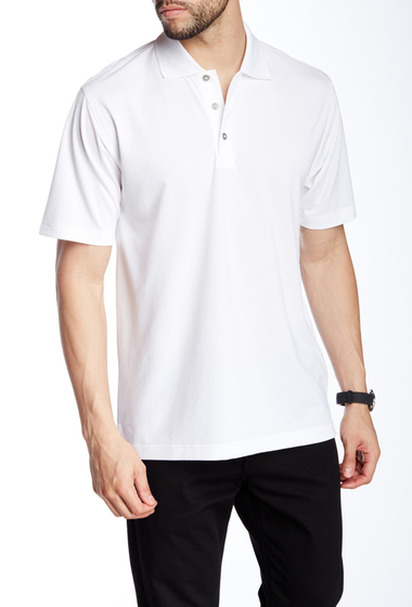 Imbracaminte Barbati Lone Cypress Pebble Beach Diamond Texture Short Sleeve Polo 0110 WHITE