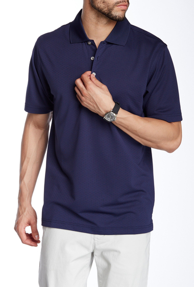 Imbracaminte Barbati Lone Cypress Pebble Beach Diamond Texture Short Sleeve Polo 8007 PEACOAT