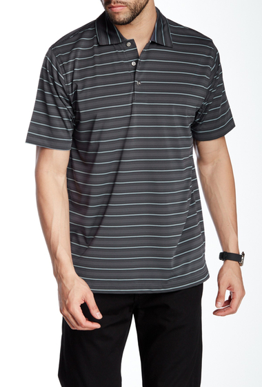 Imbracaminte Barbati Lone Cypress Pebble Beach Striped Short Sleeve Polo 2032 EBONY
