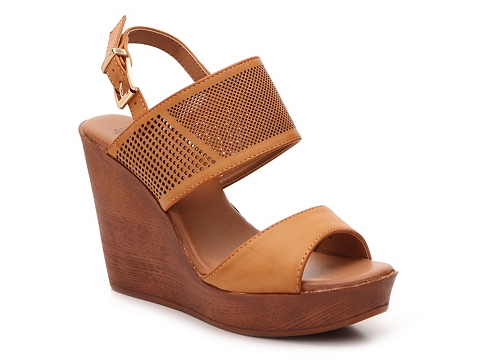 Incaltaminte Femei GC Shoes Girls Night Wedge Sandal Tan