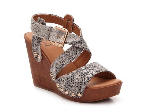 Incaltaminte Femei GC Shoes Super Miami Wedge Sandal Taupe