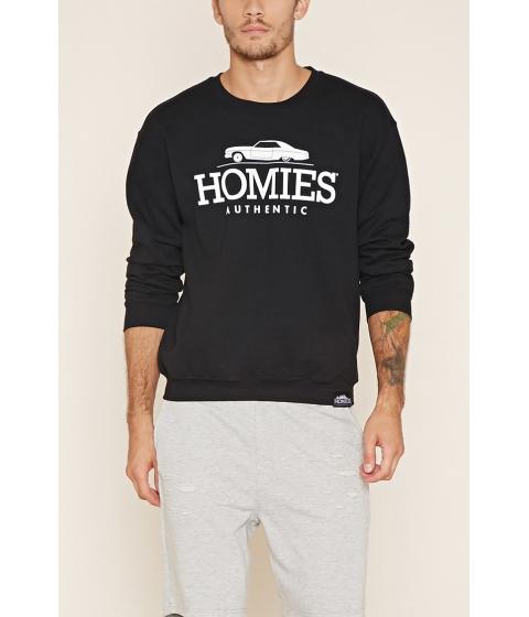 Imbracaminte Barbati Forever21 Homies Graphic Pullover Blackwhite