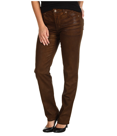 Imbracaminte Femei NYDJ Petite Sheri Skinny in Terra Tan Coated Denim Terra Tan