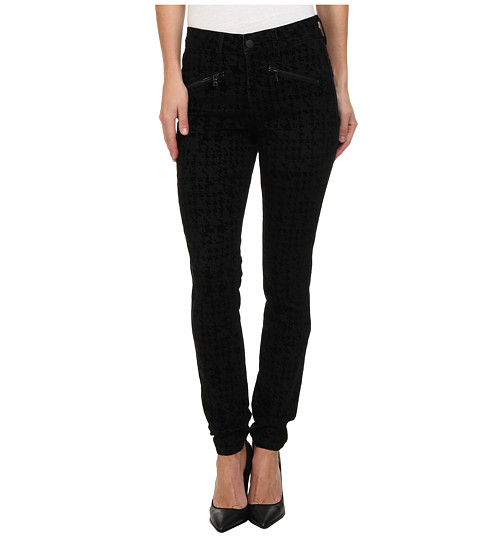 Imbracaminte Femei NYDJ Ami Super Skinny in Houndstooth FlockingBlack Houndstooth FlockingBlack