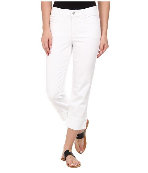 Imbracaminte Femei NYDJ Dayla Wide Cuffed Capri Optic White