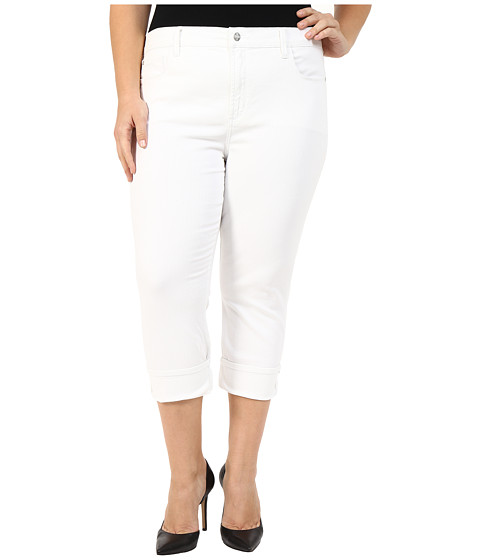Imbracaminte Femei NYDJ Plus Size Dayla Wide Cuffed Capri Optic White