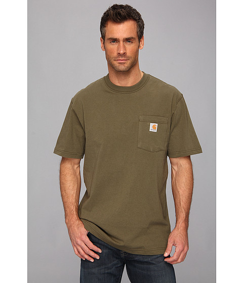 Imbracaminte Barbati Carhartt Workwear Pocket SS Tee K87 Army Green