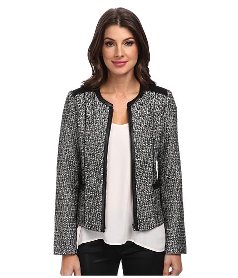 Imbracaminte Femei NYDJ Metallic Leather Tweed Jacket Black