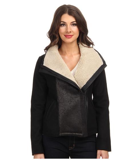 Imbracaminte Femei NYDJ Faux Shearling Moto Jacket Black