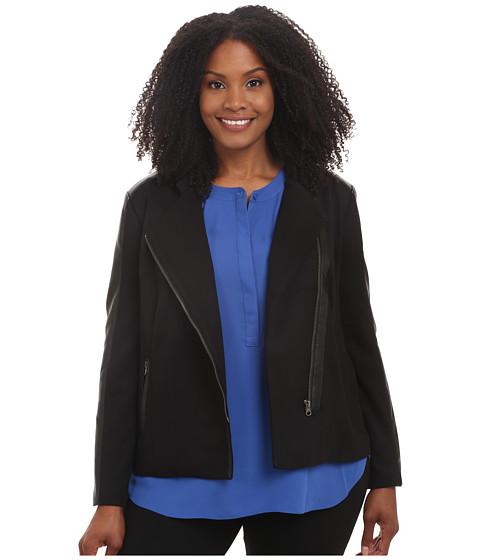 Imbracaminte Femei NYDJ Plus Size Ponte Moto Jacket Black