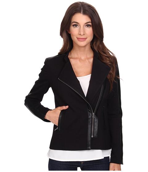 Imbracaminte Femei NYDJ Ponte Moto Jacket Black
