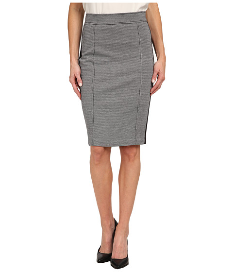 Imbracaminte Femei NYDJ Knit Jacquard Ponte Mix Pencil Skirt Black Houndstooth