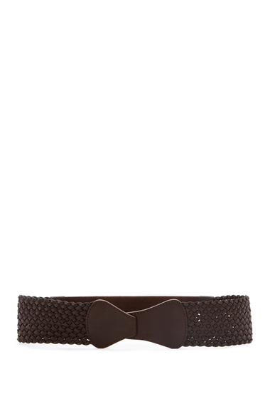 Accesorii Femei Steve Madden Braided Tabbed Stretch Belt BROWN